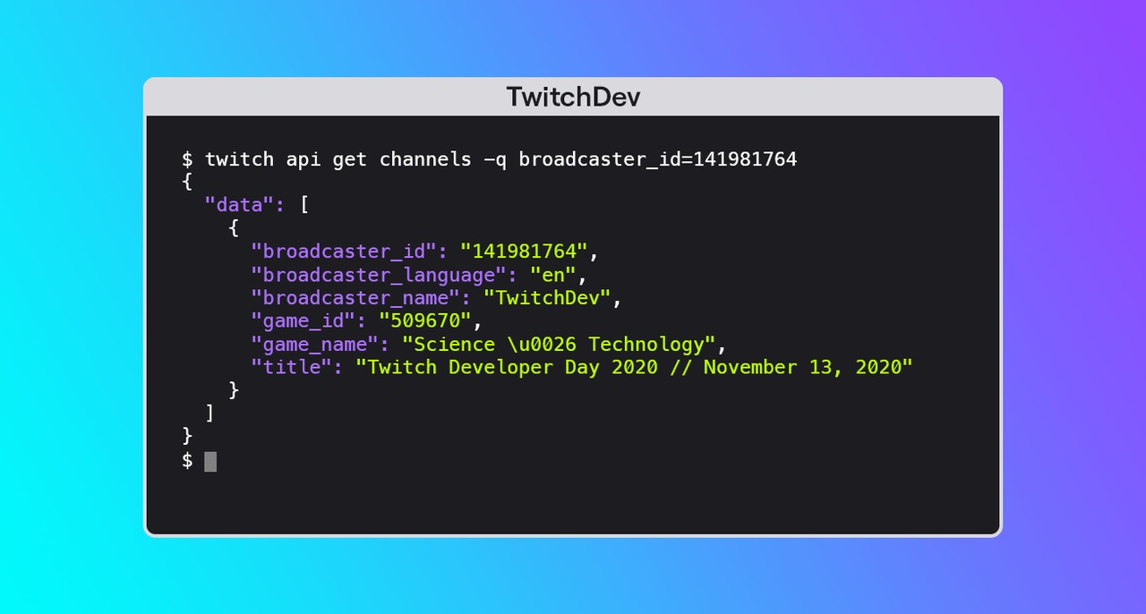 Introducing the Twitch Command Line Interface Tool